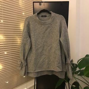 Zara Tie-sleeve Sweater